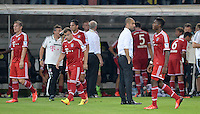 FUSSBALL   1. BUNDESLIGA   SAISON 2013/2014   SUPERCUP Borussia Dortmund - FC Bayern Muenchen           27.07.2013 Enttaeuschung FC Bayern; Bastian Schweinsteiger, Xherdan Shaqiri, Trainer Pep Guardiola und David Alaba (v.li.)
