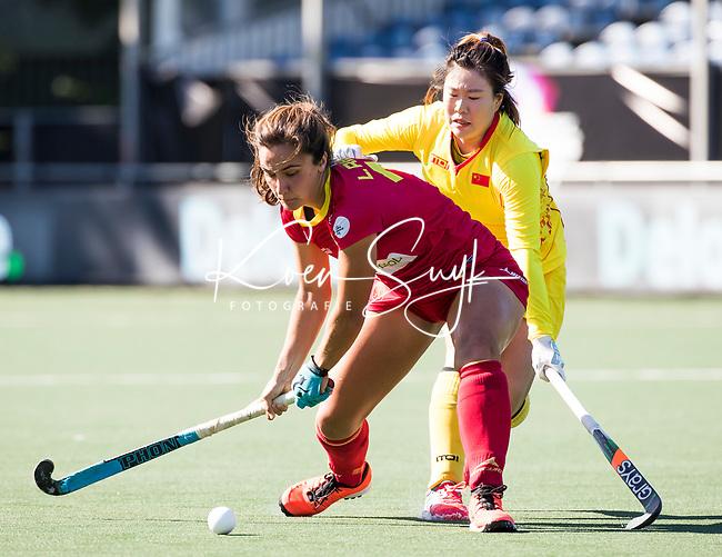 BREDA - Lola Riera (Esp)   tijdens Spanje-China bij de 4 Nations Trophy dames 2018 .  COPYRIGHT  KOEN SUYK