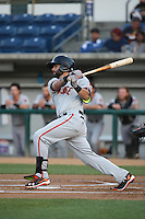C.J. Hinojosa (2) of the San Jose Giants bats against the Rancho Cucamonga Quakes at LoanMart Field on May 23, 2016 in Rancho Cucamonga, California. San Jose defeated Rancho Cucamonga, 4-2. (Larry Goren/Four Seam Images)