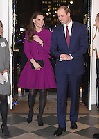 06 February 2017 - Princess Kate, Duchess of Cambridge and Prince William Duke of Cambridge with Aida Cable at The Guild of Health Writers Conference with Heads Together held at Chandos House in London. The Guild of Health Writers is an independent membership organisation representing many of Britain's leading health journalists and writers and encompassing the whole spectrum of health and wellbeing. Photo Credit: ALPR/AdMedia