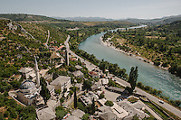 The high view of Pocitelj, a small settlement along the Neretva River.