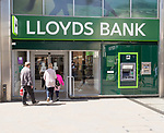 Lloyds bank branch in Regent Street, town centre of Swindon, Wiltshire, England, UK