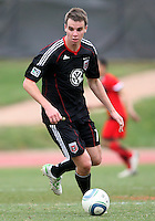 Conor Shanosky (17) of D.C. United  during a scrimmage against the University of Maryland at Ludwig Field, University of Maryland, College Park, on April  10 2011. D.C. United won 1-0.