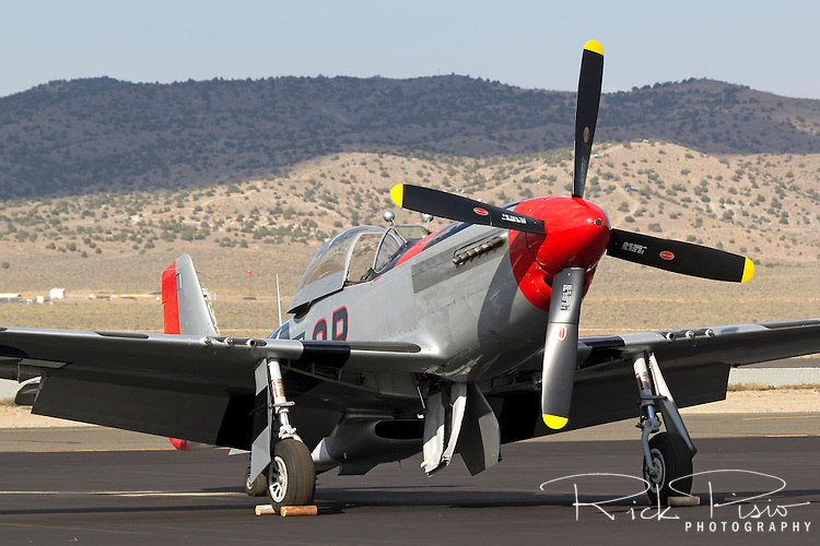 P-51 Mustang Man O War on the ramp at Stead Field in Nevada.