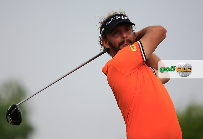 Joost Luiten (NED) on the 6th tee during Round 4 of the Abu Dhabi HSBC Championship on Sunday 22nd January 2017.<br /> Picture:  Thos Caffrey / Golffile<br /> <br /> All photo usage must carry mandatory copyright credit     (&copy; Golffile | Thos Caffrey)