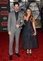 "Sofia Vergara & Joe Manganiello at the world premiere for ""Star Wars: The Last Jedi"" at the Shrine Auditorium. Los Angeles, USA 09 December  2017<br /> Picture: Paul Smith/Featureflash/SilverHub 0208 004 5359 sales@silverhubmedia.com"