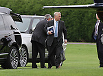 Prince Andrew Departs by using the Queens Helicopter G-XXEB after an engagement in the local area. <br />