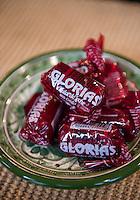 Glorias (cajeta) sweet being served for desert at Abelardo Morales´hacienda Las Morerías, Santiago near Monterrey, Nuevo Leon, Mexico