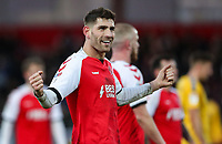 Fleetwood Town's Ched Evans celebrates victory at the end of the match  <br /> <br /> Photographer Andrew Kearns/CameraSport<br /> <br /> The EFL Sky Bet League One - Fleetwood Town v Charlton Athletic - Saturday 2nd February 2019 - Highbury Stadium - Fleetwood<br /> <br /> World Copyright © 2019 CameraSport. All rights reserved. 43 Linden Ave. Countesthorpe. Leicester. England. LE8 5PG - Tel: +44 (0) 116 277 4147 - admin@camerasport.com - www.camerasport.com