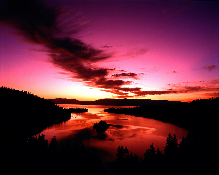 Lake Tahoe Landscape Emerald Bay Sunrise
