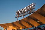Dodger Stadium at sunset in Los Angeles, CA