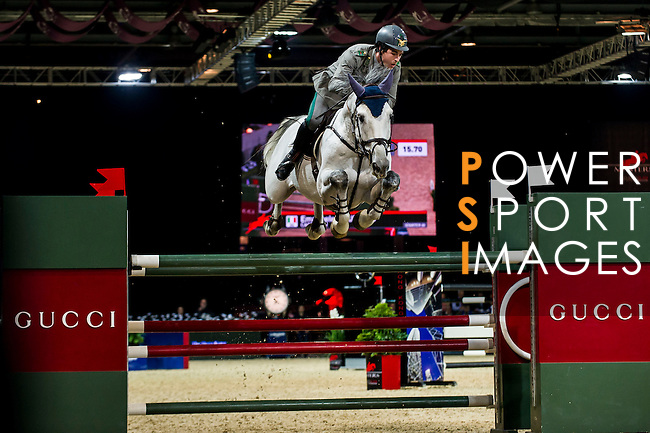 Emanuele Gaudiano of Italy riding Caspar 232  in action during the Hong Kong Jockey Club Trophy competition as part of the Longines Hong Kong Masters on 13 February 2015, at the Asia World Expo, outskirts Hong Kong, China. Photo by Victor Fraile / Power Sport Images