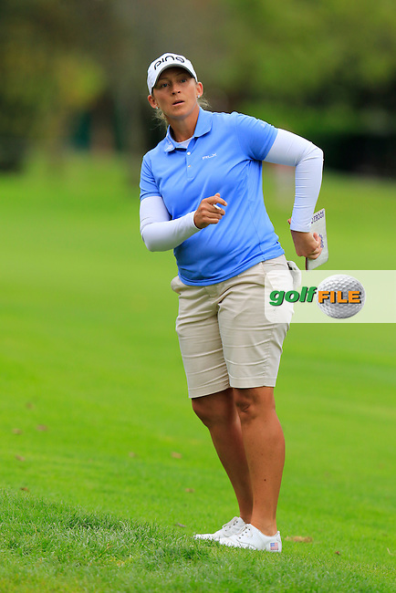 Angela Stanford (USA) on the 12th hole during Saturday's Round 3 of The 2016 Evian Championship held at Evian Resort Golf Club, Evian-les-Bains, France. 17th September 2016.<br /> Picture: Eoin Clarke   Golffile<br /> <br /> <br /> All photos usage must carry mandatory copyright credit (&copy; Golffile   Eoin Clarke)