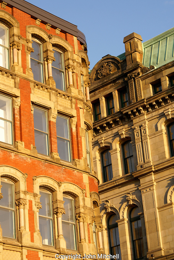 Victorian buildings in the city of Saint John, New Brunswick, Canada