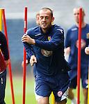 Steven Fletcher at training