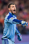 Goalkeeper Soslan Dzhanaev of FC Rostov reacts  during their 2016-17 UEFA Champions League match between Atletico Madrid and FC Rostov at the Vicente Calderon Stadium on 01 November 2016 in Madrid, Spain. Photo by Diego Gonzalez Souto / Power Sport Images