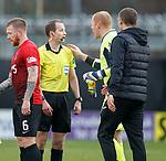 20.10.2018 St Mirren v Kilmarnock:  Willie Collum and Craig Samson at FT