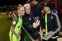 Bridgeview, IL - Wednesday August 16, 2017: Jess Fishlock, Fans during a regular season National Women's Soccer League (NWSL) match between the Chicago Red Stars and the Seattle Reign FC at Toyota Park. The Seattle Reign FC won 2-1.