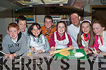 Chef Mark Doe from Just Cooking, Firies who held a Cooking Easter Camp for children on Wednesday l-r: Darragh O'Sullivan, Cathel Goulding, Abigail Graham, Denis Kerrisk, Caoimhe Lynch, Mark Doe, Danielle O'Sullivan and Clodagh O'Sullivan