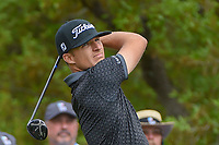 Morgan Hoffman (USA) watches his tee shot on 1 during day 1 of the Valero Texas Open, at the TPC San Antonio Oaks Course, San Antonio, Texas, USA. 4/4/2019.<br /> Picture: Golffile | Ken Murray<br /> <br /> <br /> All photo usage must carry mandatory copyright credit (© Golffile | Ken Murray)