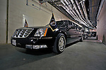 30 March 2008: The U.S. Presidential motorcade waits inside the stadium, behind the scenes, as U.S. President George W. Bush takes part in the Opening Day game ceremonies during the inauguration of Nationals Park in Washington, DC. The Nationals christened their  new ballpark with a win over the visiting Braves 3-2 in the first game at the state-of-the-art sports facility...Mandatory Photo Credit: Ed Wolfstein Photo