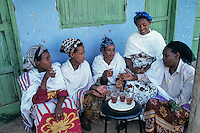 Mikro credit woman's group of Addis Ababa, Kebele 26 drinking thea