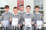 St Patricks Castleisland students who received their Junior Certs results on Wednesday l-r: Padraig Browne, Ethan Kerin, Conor Mitchell, Denis O'Mahony and Lorcan Hickey