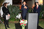 LOS ANGELES - OCT 24: Mag Andreas Lins, wife, Jonathan Yang at the Austrian National Day Celebration in the Residence of the Consul on October 24, 2013 in Los Angeles, California