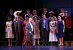 "Joel Grey and cast during the final performance curtain call for the New York City Center Encores! at 25 production of  ""Hey, Look Me Over!"" on February 11, 2018 at the City Center Theatre in New York City."