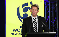 4th February 2020, Eden Park, Auckland, New Zealand;  New Zealand Rugby Chief Executive Mark Robinson.<br /> RWC 2021 New Zealand Kick-Off event at Eden Park, Auckland, New Zealand on Tuesday 4th February 2020.