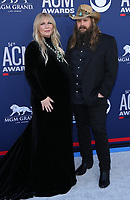 07 April 2019 - Las Vegas, NV - Morgane Stapleton, Chris Stapleton. 54th Annual ACM Awards Arrivals at MGM Grand Garden Arena. Photo Credit: MJT/AdMedia<br /> CAP/ADM/MJT<br /> &copy; MJT/ADM/Capital Pictures