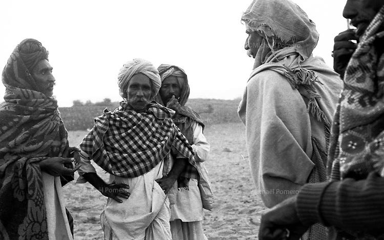 11.2008  Pushkar (Rajasthan)<br /> <br /> Negotiations between buyers and sellers of camels during the annual fair.<br /> <br /> N&eacute;gociation entre acheteurs et vendeurs de chameaux pendant la foire annuelle.