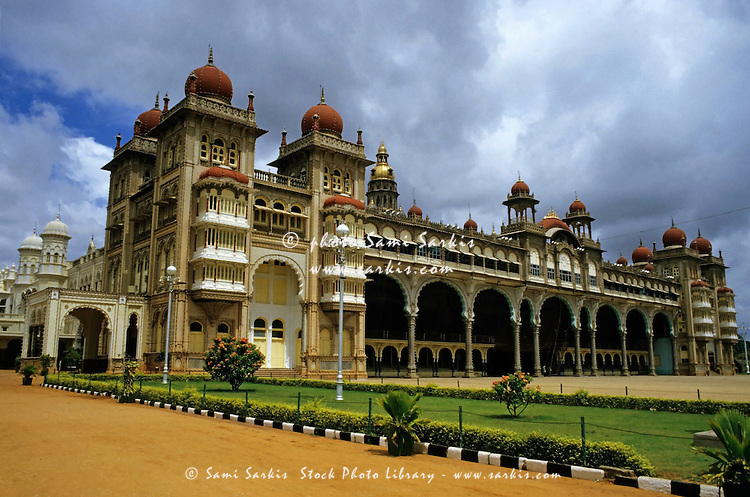 Decorative exterior of the Mysore Palace, Mysore, India.