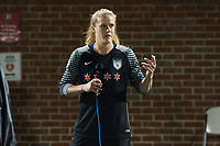 Boston, MA - Friday July 07, 2017: Former Boston Breakers goalie Alyssa Naeher pays tribute to Tony DiCicco following a regular season National Women's Soccer League (NWSL) match between the Boston Breakers and the Chicago Red Stars at Jordan Field.