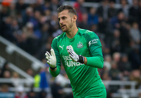 Goalkeeper Martin Dubravka of Newcastle United during the Premier League match between Newcastle United and Manchester United at St. James's Park, Newcastle, England on 6 October 2019. Photo by J GILL / PRiME Media Images.