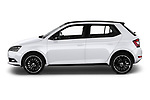 Car driver side profile view of a 2019 Skoda Fabia Monte Carlo 5 Door Hatchback