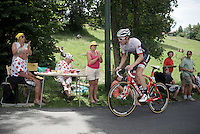 Gregory Rast (SUI/Trek-Segafredo) dropping by for lunch<br /> <br /> Stage 18 (ITT) - Sallanches &rsaquo; Meg&egrave;ve (17km)<br /> 103rd Tour de France 2016