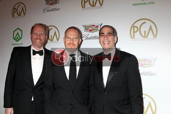 Noah Emmerich, Toby Emmerich, Adam Emmerich<br /> at the 2019 Producer's Guild Awards, Beverly Hilton Hotel, Beverly Hills, CA 01-19-19<br /> David Edwards/DailyCeleb.com 818-249-4998