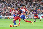 30.01.2016 Camp Nou, Barcelona, Spain. La Liga day 22 match between FC Barcelona and Atletico de Madrid. Luis Suares take a shot on goal