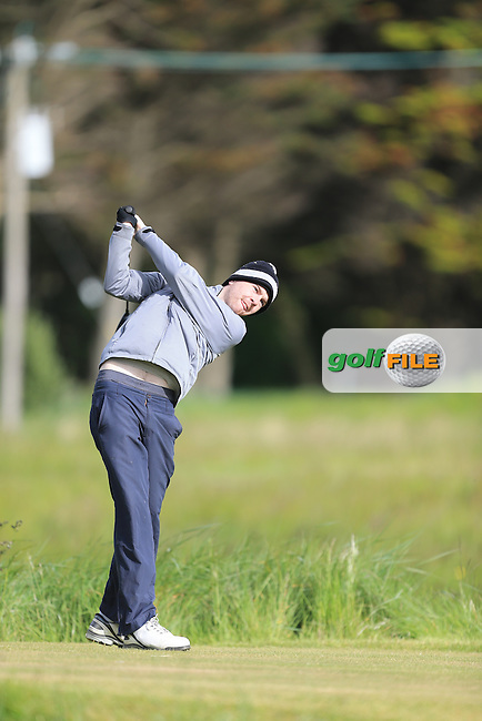 Alen Kiernan (Forest Little)<br /> during R1 of the East of Ireland Amateur Open championship 2013 at Co Louth Golf club, 1/6/13<br /> Picture:  Fran Caffrey / www.golffile.ie