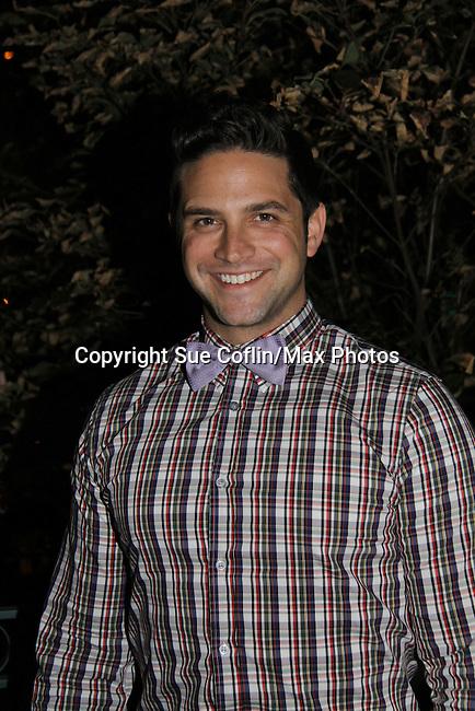General Hospital's Brandon Barash attends ABC Daytime Soap Casino Night with the Stars on October 28, 2010 at Guastavinos, New York City, New York. (Photo by Sue Coflin/Max Photos)