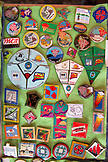 USA, Washington State, Long Beach Peninsula, International Kite Festival, kite pins for sale at the festival