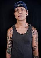Jose Lopez Navarro, 21 tears old. Portraits of Adolescents San Cosme skate park, in Mexico City. Release # 15