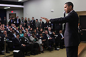 Washington, DC - December 3, 2009 -- United States President Barack Obama speaks to business leaders at the closing session of the White House Jobs and Economic Growth Summit on Thursday, December 3, 2009.  .Credit: Dennis Brack / Pool via CNP