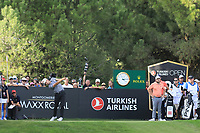 Matthias Schwab (AUT) during the final round of the Turkish Airlines Open, Montgomerie Maxx Royal Golf Club, Belek, Turkey. 10/11/2019<br /> Picture: Golffile | Phil INGLIS<br /> <br /> <br /> All photo usage must carry mandatory copyright credit (© Golffile | Phil INGLIS)