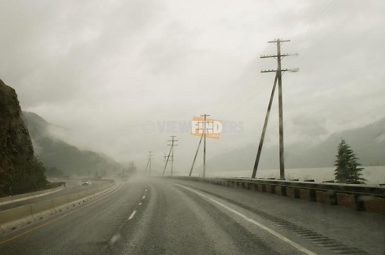 I-84 in the Rain, Columbia River Gorge, Oregon