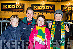 Derek and Ted O'Gorman and Milly and Jack Spillane Fossa  at the Kerry team homecoming in Killarney on Monday