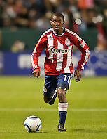CARSON, CA – APRIL 9, 2011: Chivas USA defender Michael Lahoud (11) during the match between Chivas USA and Columbus Crew at the Home Depot Center, April 9, 2011 in Carson, California. Final score Chivas USA 0, Columbus Crew 0.