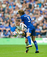 Tottenham's Kieran Trippier during the Premier League match between Tottenham Hotspur and Chelsea at Wembley Stadium, London, England on 20 August 2017. Photo by Andrew Aleksiejczuk / PRiME Media Images.