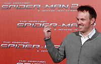 """Il regista statunitense Marc Webb posa durante un photocall per la presentazione del suo nuovo film """"The Amazing Spider-Man 2 - Il potere di Electro"""" a Roma, 14 aprile 2014.<br /> U.S. director Marc Webb poses during a photocall for the presentation of his new movie """"The Amazing Spider-Man 2"""" in Rome, 14 April 2014.<br /> UPDATE IMAGES PRESS/Isabella Bonotto"""